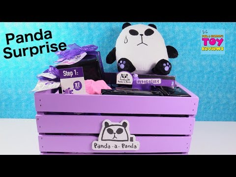 Panda A Panda Surprise Present Figures Plush & More Toy Review Unboxing | PSToyReviews