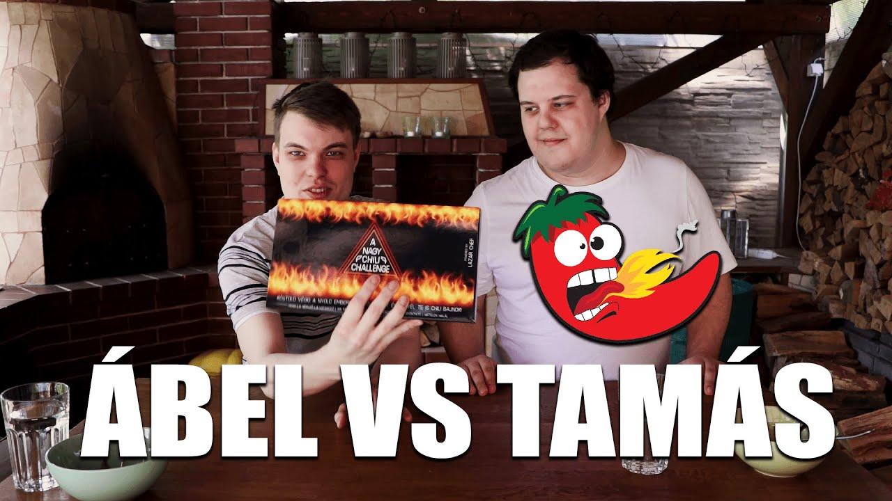 ÁBEL VS TAMÁS - Chili Challenge!!! (2,1 millió Scoville??)🌶️🌶️