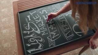 видео меловые доски для ресторанов