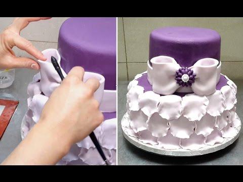 Petals Cake How To By Cakesstepbystep Youtube