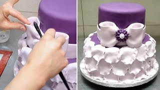 Petals Cake. How To *Decorar con Fondant by CakesStepbyStep