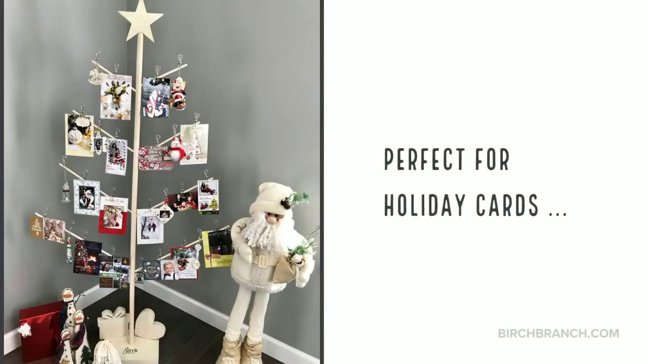 Christmas Card Stand Instantly - YouTube
