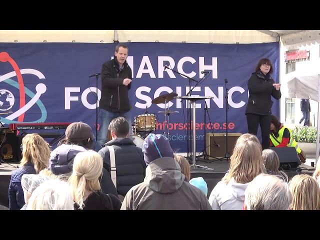 Ola Rosling, director Gapminder på March for Science Stockholm 2017