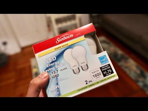 $1 🙀 Sunbeam LED Light Bulb 💡 2 Pack 100w Equivalent From Dollar Tree 🌲