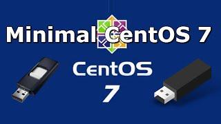 كيفية إنشاء CentOS 7 الحد الأدنى للتمهيد محرك أقراص فلاش USB
