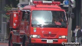 秋葉原の店舗内で発生した救助活動現場へ臨場した救助隊と、搬送開始す...