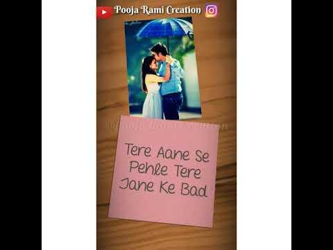 Dekhu Tujhe To Pyaar Aaye Status|| Whatsapp Video Status Song With Lyrics || | Pooja Rami Creation |