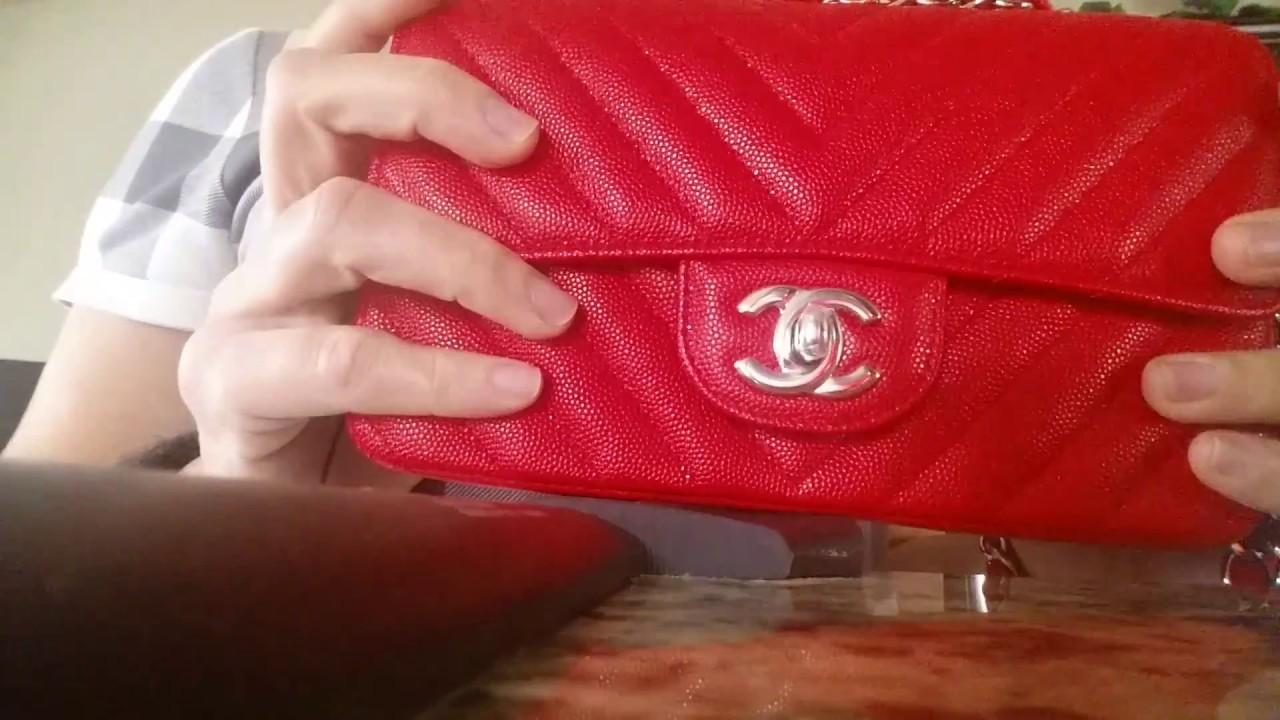 New Spring 2017 Chanel Mini Rectangular In True Red Luxury Handbags