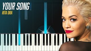 """Rita Ora - """"Your Song"""" Piano Tutorial & Lyrics - Chords - How To Play - Cover"""