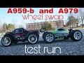 A959-b mod ( wheel) swap test run with A979