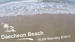 Korea Weekend VLOG| Daecheon Beach| Saturday 6/10/17