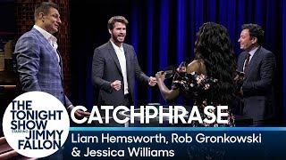 Catchphrase with Liam Hemsworth, Rob Gronkowski and Jessica Williams