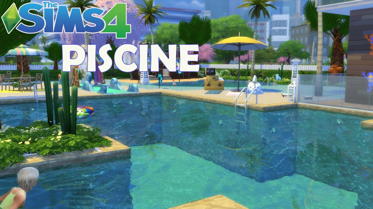 Les sims 4 piscine construction speed youtube for Construction piscine desjoyaux youtube