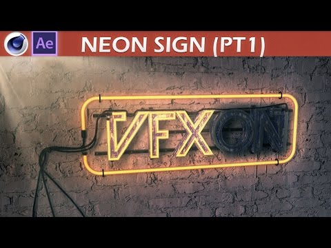 After Effects & Cinema 4D Neon Sign Tutorial Part1