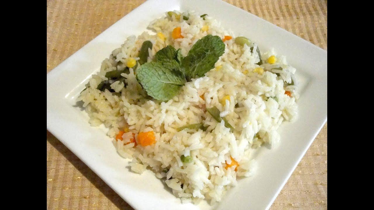 Receta de arroz blanco con verduras - La receta de la ...