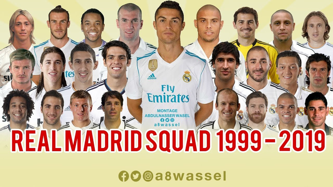 Real Madrid Squad - from 1999 to 2019 HD In English