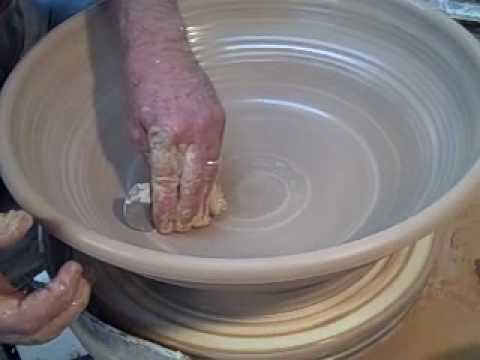 How To Throw A Large Shallow Bowl With Slip Decoration