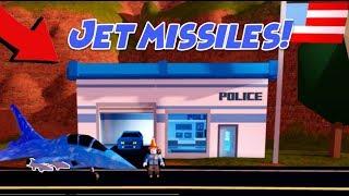 Jailbreak JET MISSILES Update! (Roblox Jailbreak New Police Station, New Codes, Fighter Jet)