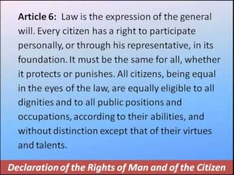 Declaration of the Rights of Man and of the Citizen 1789 -- 17 Articles--Hear and Read the Full Text