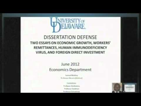 Defense dissertation presentation