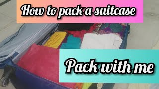 Packing for my vacation || pack with me || how to pack and organised the luggage bag