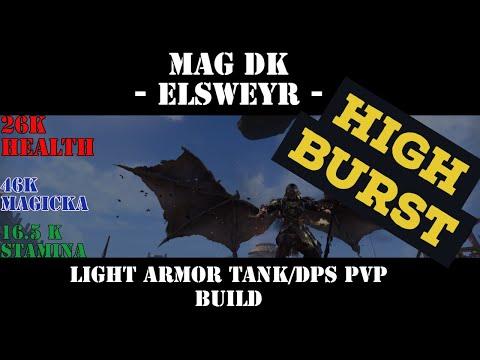 Scarr X, Magicka Dragonknight Light Armor Tank/DPS BUILD! [Elsweyr