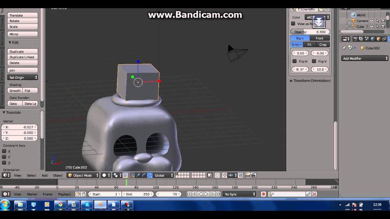 Modelling Freddy Fazbear's Head (FNaF2) - Blender 3D Software