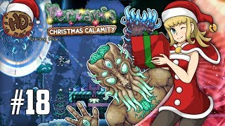 A Celestial Pillar Spawned in my Base! Moon Lord! | Terraria Christmas Calamity Let's Play #18