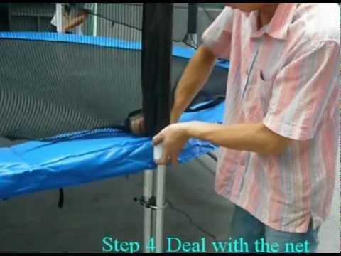 Superjumper Trampoline Enclosure Installation Instruction Youtube