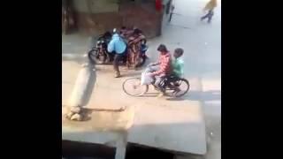 Bike funny accident India