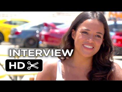 Furious 7 Interview - Michelle Rodriguez (2015) - Paul Walker, Vin Diesel Movie HD