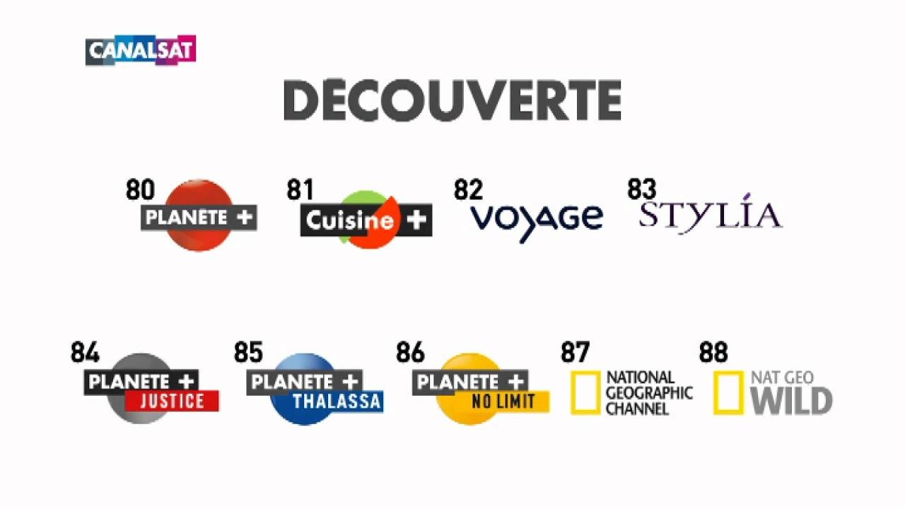 Nouvelle Numérotation CANALSAT Thématique DECOUVERTE YouTube - Chaine cuisine canalsat