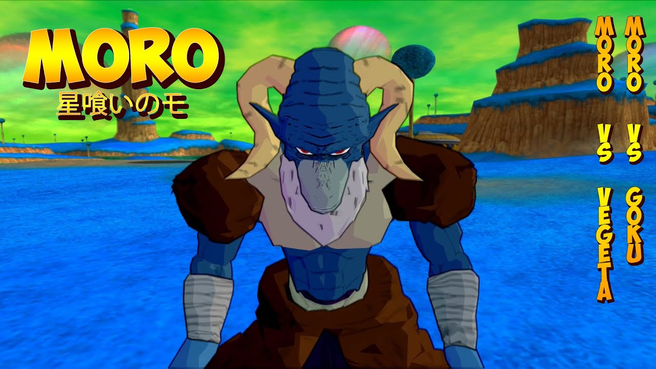 Moro vs Vegeta SSGSS and Goku SSGSS | Planet Eater Moro | DBZ Tenkaichi 3 (MOD)