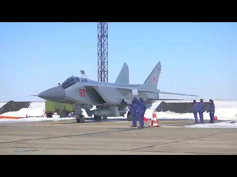 Russia MOD - MiG-31 Foxhound Fighter Dagger Nuclear Capable Hypersonic Vehicle Live Firing [1080p]