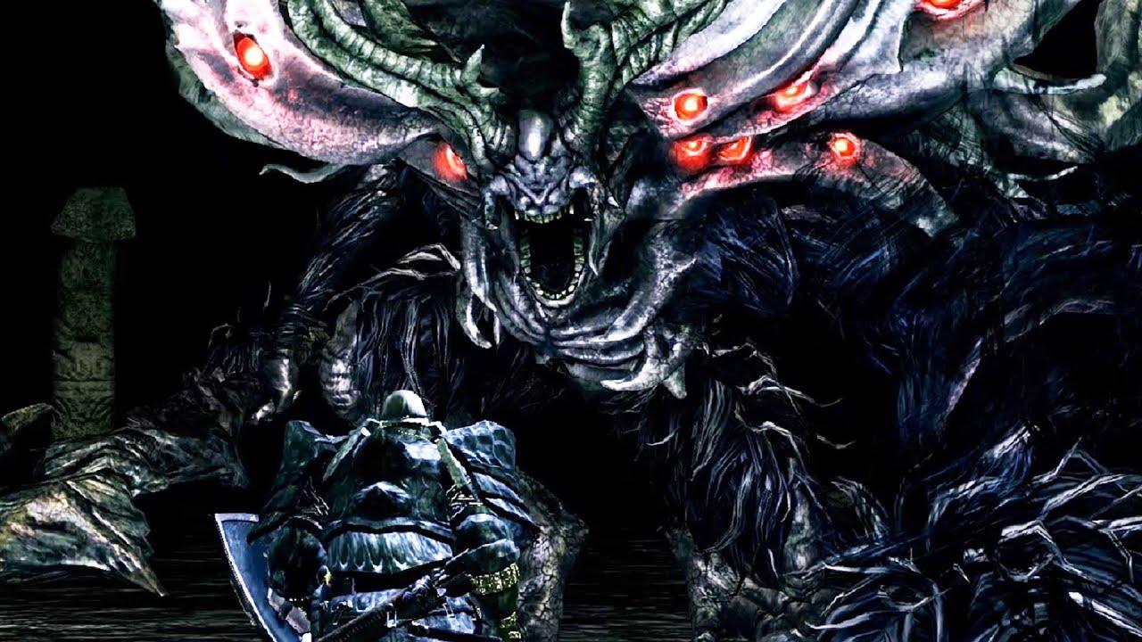 dark souls manus boss fight 4k 60fps youtube