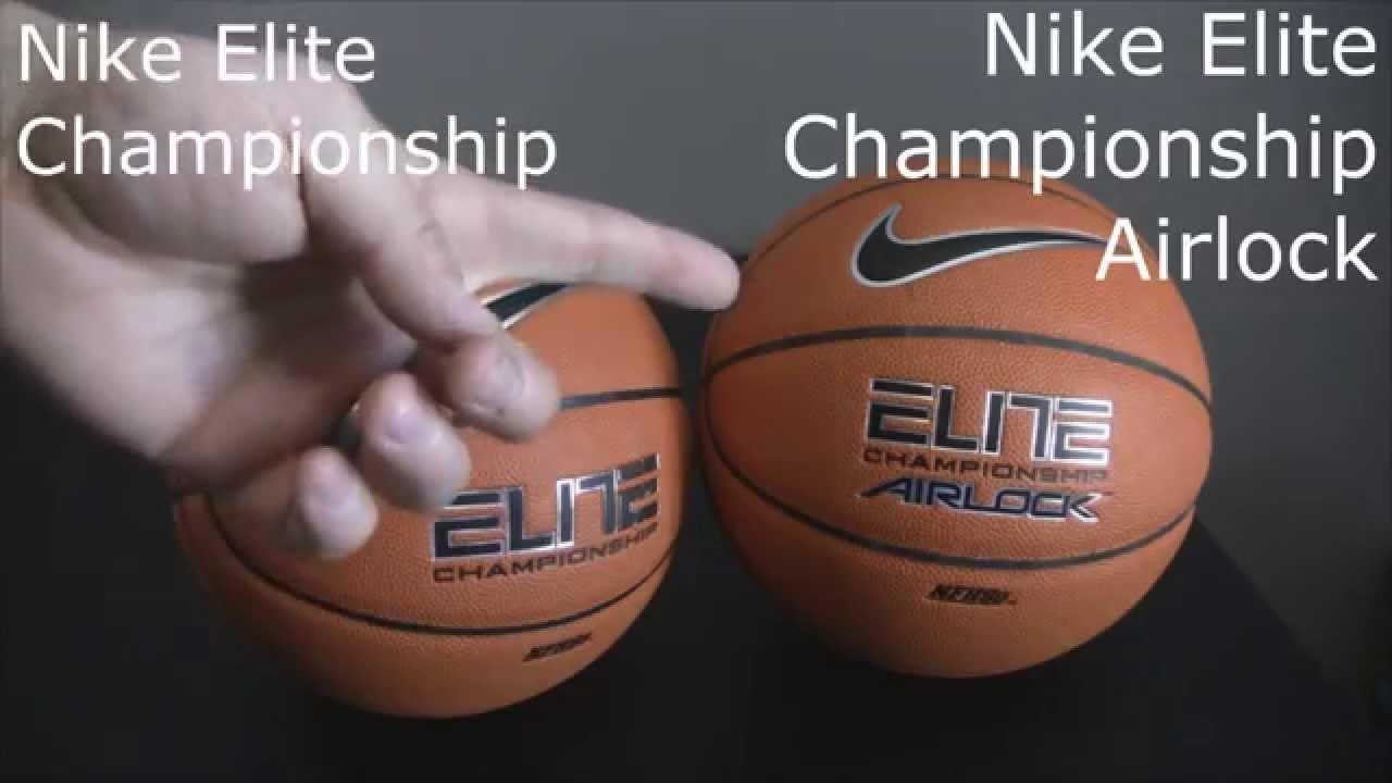 aefc8de7e Nike Elite Championship Basketballs Comparison (Airlock vs. No Airlock) -  YouTube