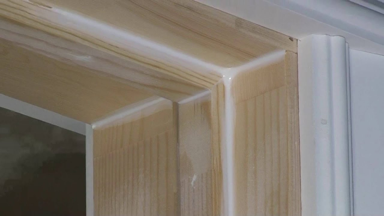 Caulking exterior door frame - Wood filler or caulk for exterior trim ...