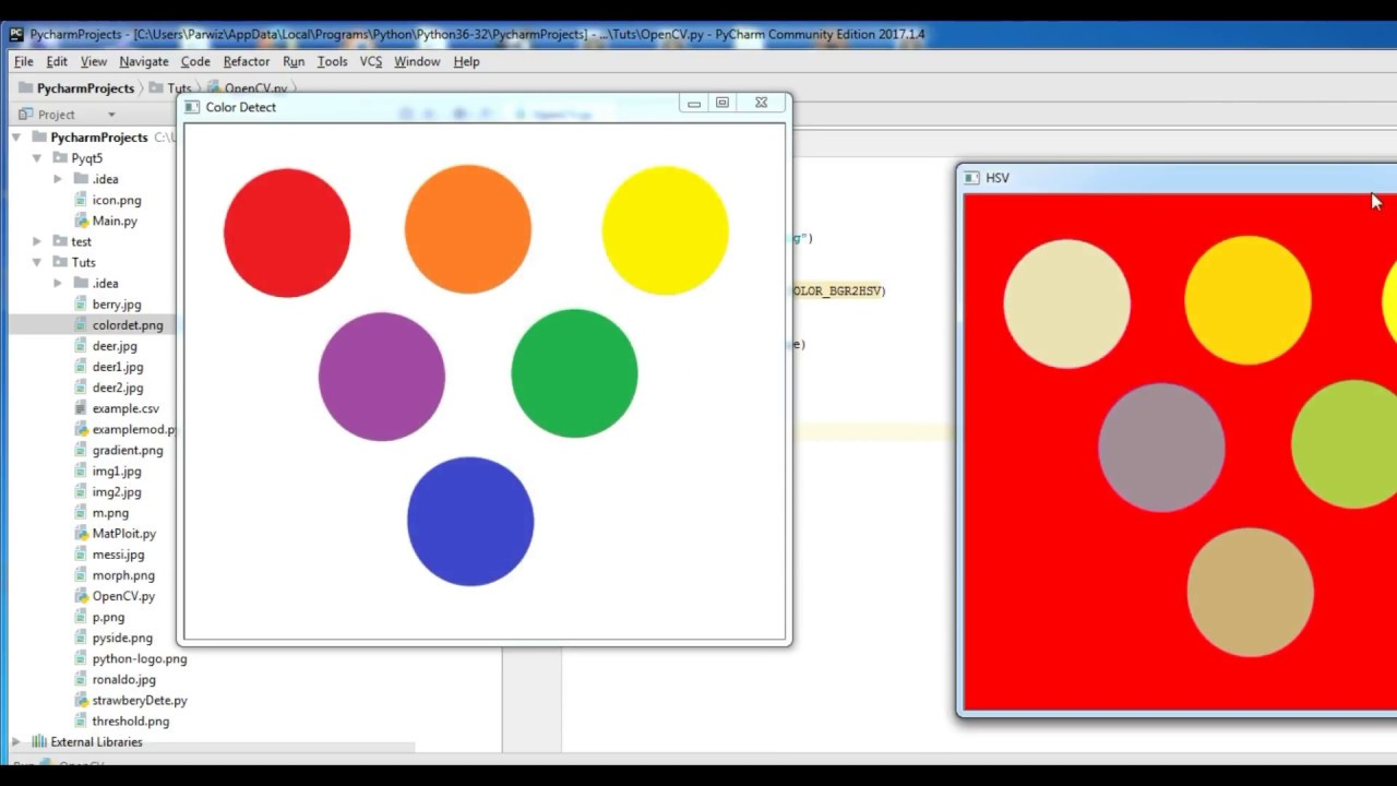 6 Color Detection And Filtering Python3 Opencv Tutorial