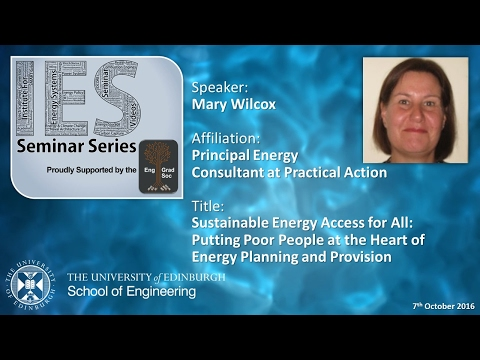 Putting Poor People at the Heart of Energy Planning and Provision - Mary Wilcox