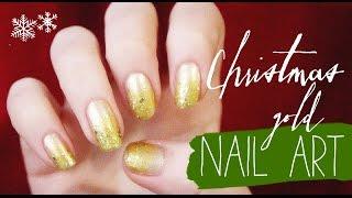 Маникюр: Сияние золота / Christmas gold nail art | Beauty Blanc