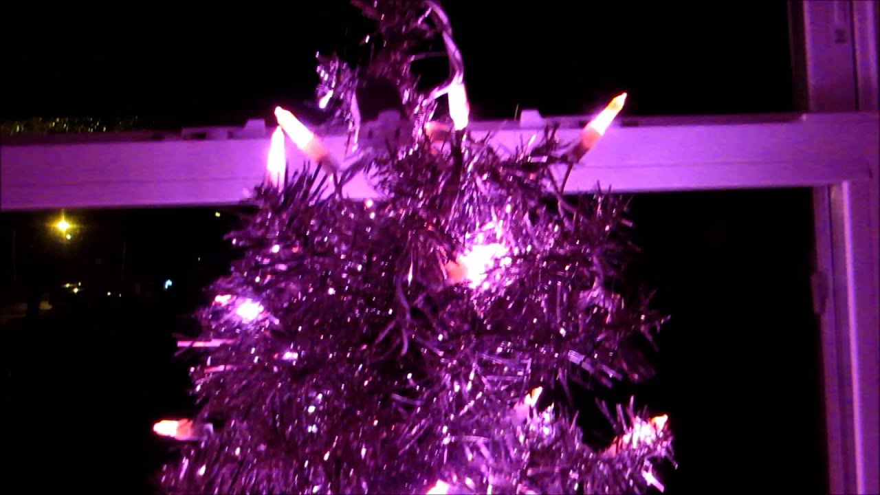 My Cute Little Pink Christmas Tree With Pink LED Lights