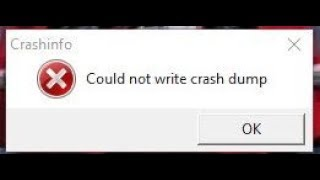 Could Not Write Crash Dump