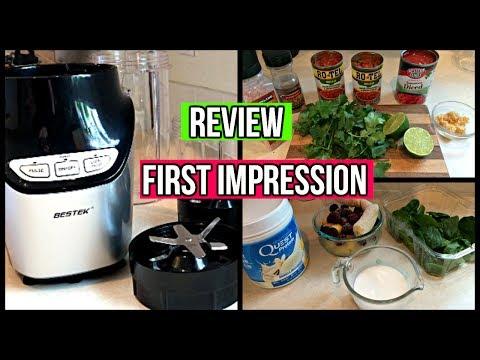 Review & First Impression | Bestek Blender | Make smoothies & salsa with me!