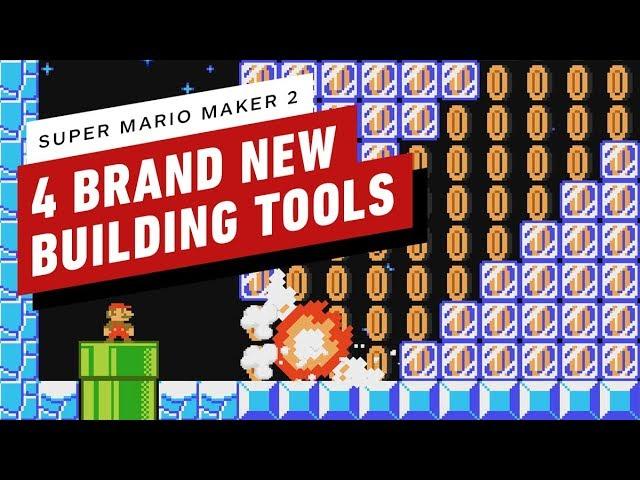 4 nuevas herramientas de construcción que llegan a Super Mario Maker 2 + vídeo