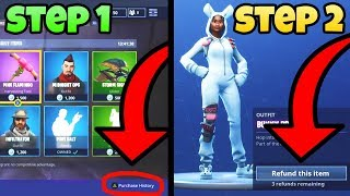 How To REFUND Skins For V BUCKS! *GAMEPLAY* (Fortnite FREE V-BUCKS)