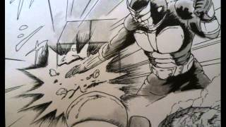 オリジナル漫画「レーサーXマッハ」と仮面ライダーの劇中使用のBGMとのコラボ動画。