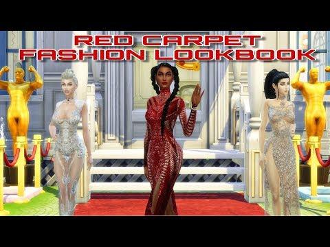 GET FAMOUS RED CARPET FASHION LOOKBOOK | CC SHOP & CAS | THE SIMS 4