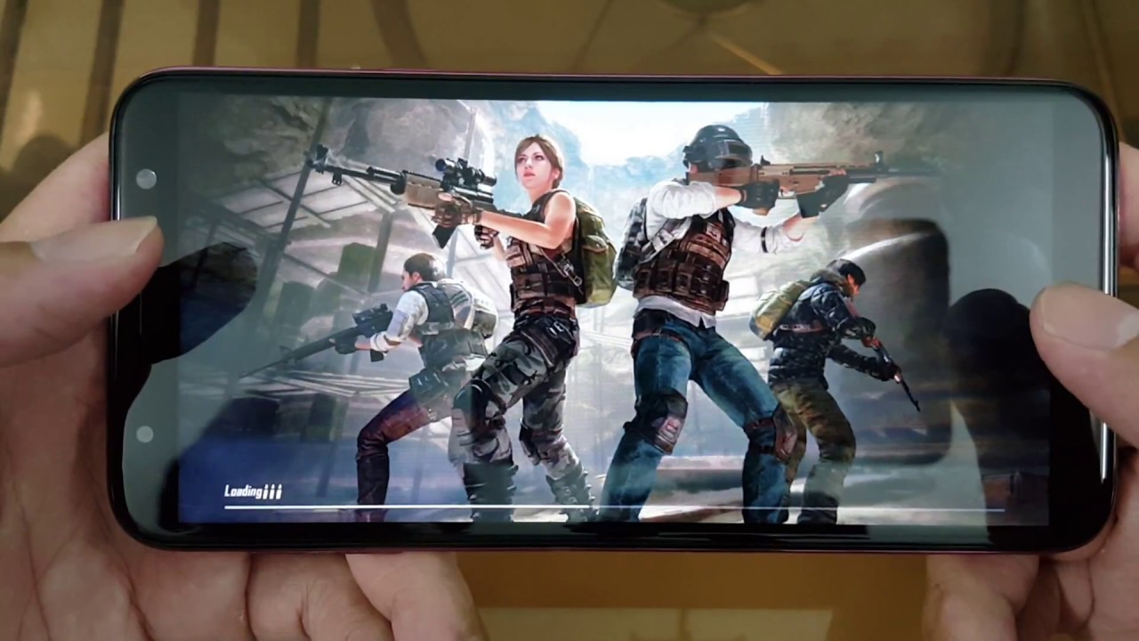 Test Game PUBG Mobile on Samsung Galaxy J4+