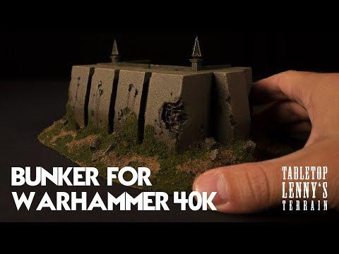 Terrain Tutorial: Making A Bunker For Warhammer 40k Part II