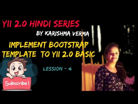 Yii 2.0 In Hindi Lession 4 - Implement Bootstrap Template Into Yii2 And Create Your Static Website